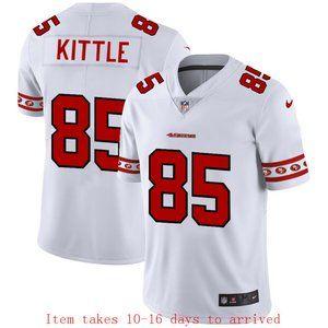 49ers #85 George Kittle Jersey Team Logo